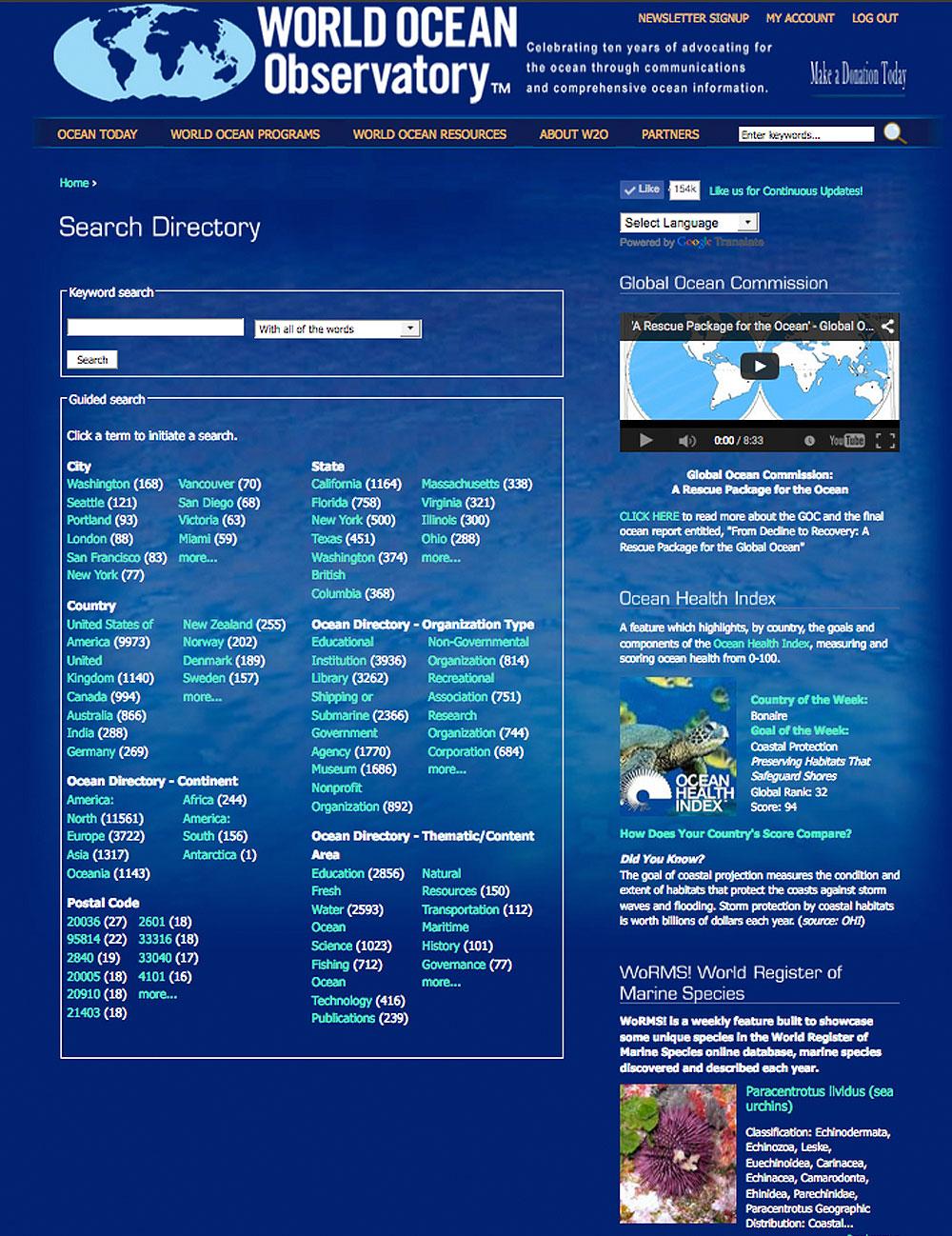 World Ocean Directory