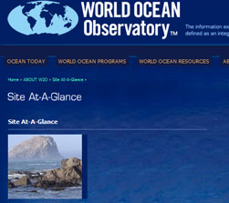 World Ocean Observatory Site-At-A-Glance