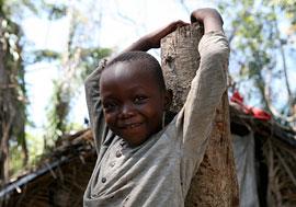 A child in Linakofo IDP camp, northeastern DRC. Credit: Zahra Moloo/IRIN