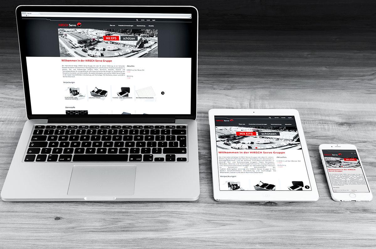 HIRSCH Gruppe Webseite in neuem Design