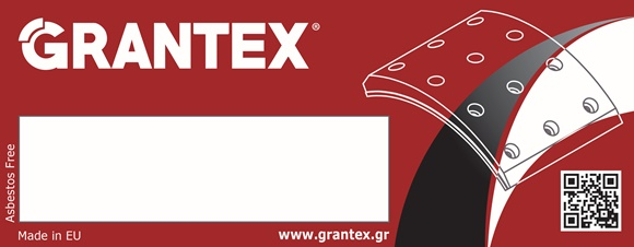 New labels for Grantex disc brake pads and brake linings !