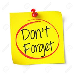 Μην ξεχάσετε !