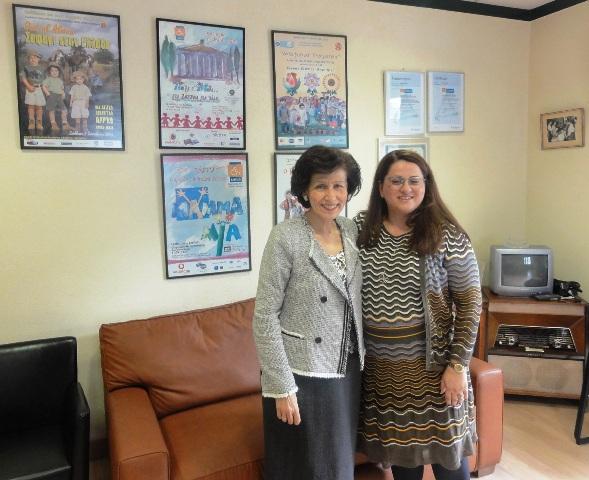 Η Πρόεδρος της ΕΛΕΠΑΠ και η Εμπορική Διευθύντρια της Grantex (photo)