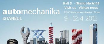 A Reminder for Grantex participation at Automechanika Istanbul 2015