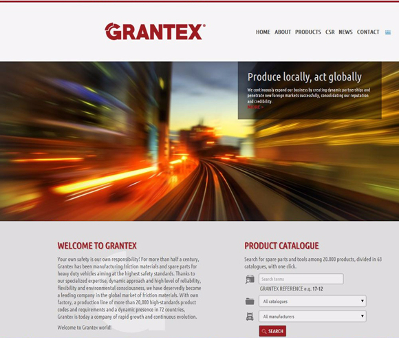 The new site of Grantex is on air