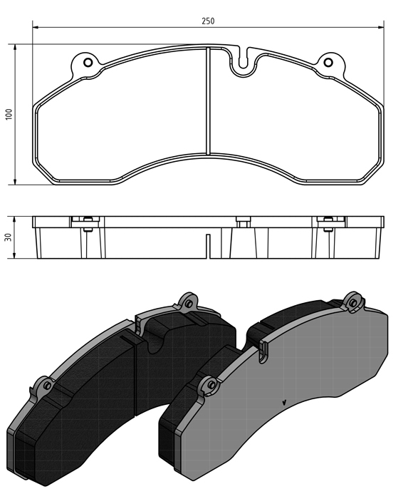 Grantex Pas-704 disc brake pads - photo