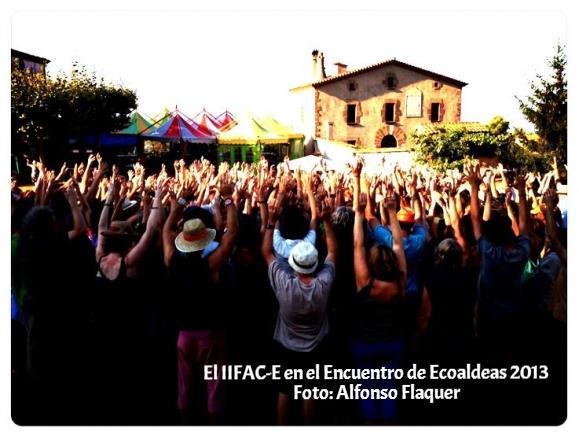 El IIFAC-E en el encuentro de ecoaldeas, Can Cases 2013. Foto cedida por Alfonso Flaquer