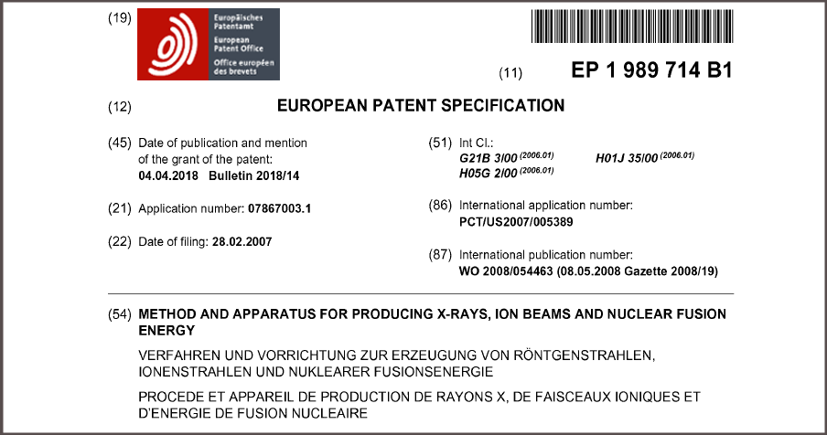 EU Patent First Half Page