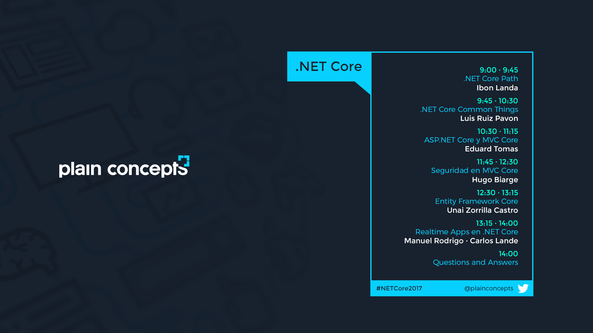 Agenda evento .net core 2017