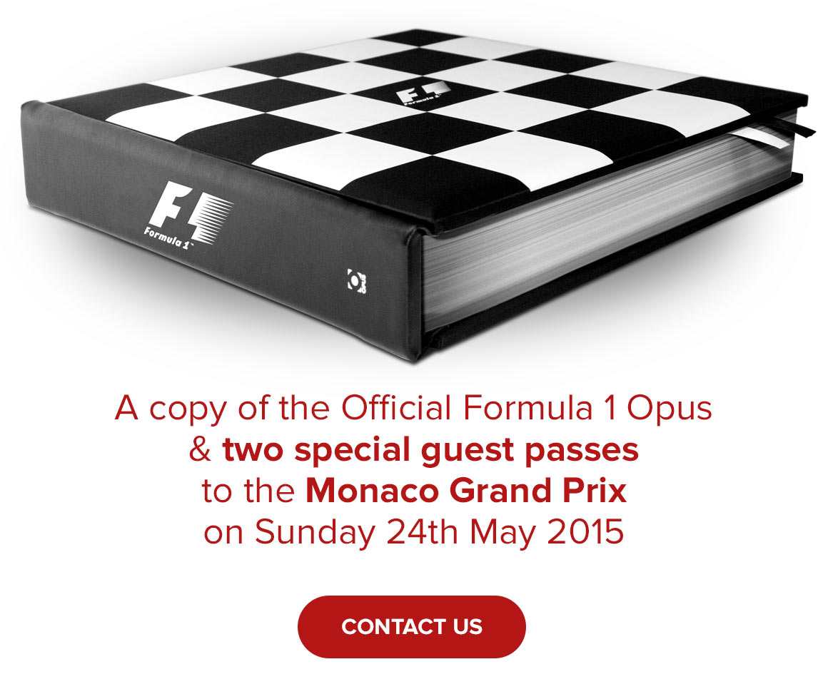 A copy of the Official Formula 1 Opus and two special guest passes to the Monaco Grand Prix on Sunday 24th May 2015