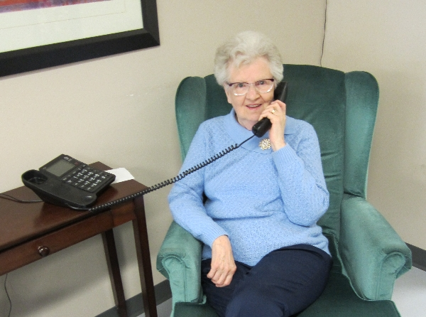 Senior accessing the Seniors Information Phone Line