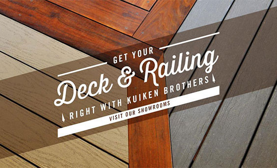 Get Your Deck and Railing - Right with Kuiken Brothers - Visit Our Showroom