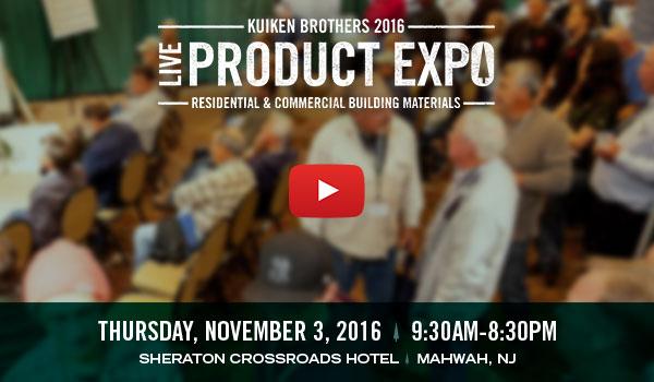Kuiken Brothers Product Expo 2016 - Thursday, November 3, 2016 - 9:30am-8:30pm - Sheraton Crossroads Hotel - Mahwah, NJ