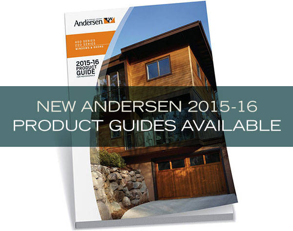 New Andersen 2015-16 Product Guides Available