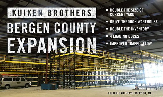 Kuiken Brothers Bergen County Expansion