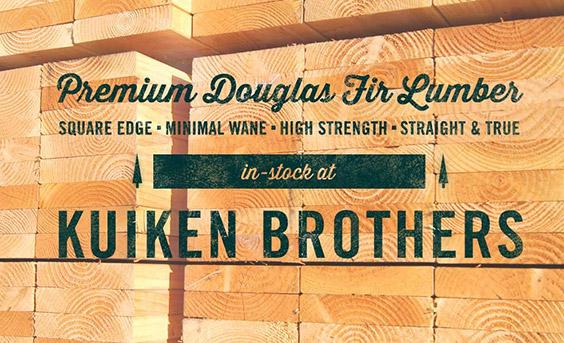 Premium Douglas Fir Lumber - Square Edge - Minimal Wane - High Strength - Straight and True - in-stock at Kuiken Brothers