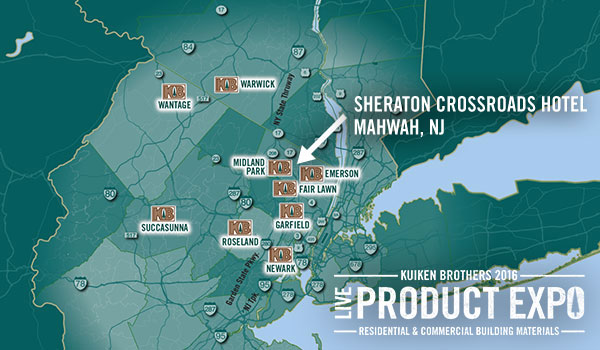 Sheraton Crossroads Hotel, Mahwah, NJ - Kuiken Brothers 2016 Live Product Expo