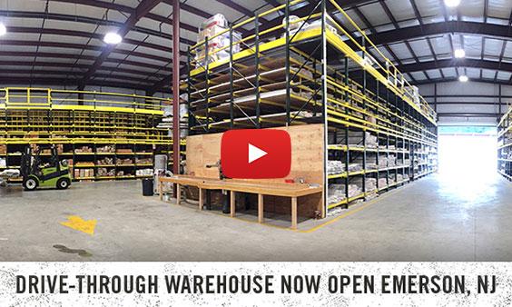 Drive-Through Warehouse Now Open Emerson NJ Video
