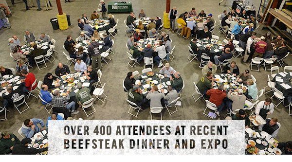 Over 400 Attendees at Recent Beefsteak Dinner and Expo