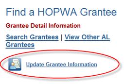 Update Grantee Information