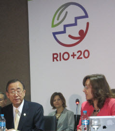 Ban Ki-Moon briefing at Rio+20