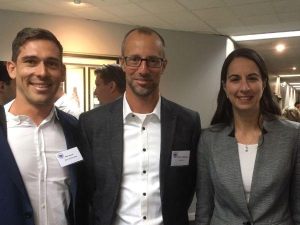 William Blank, Peter Engelen (PIANC Board), Marika Calfas CEO NSW Ports at PIANC NSW Seminar May 2019