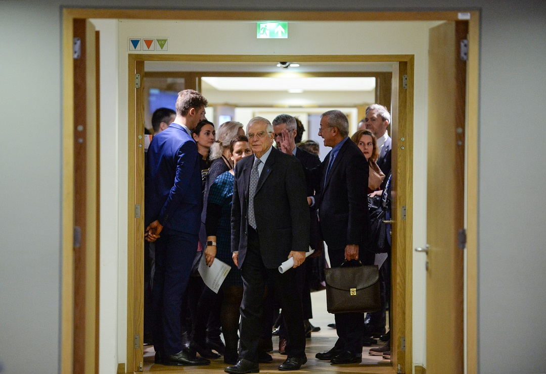 Josep Borrell, High Representative for Foreign Affairs and Security Policy and Vice-President of the European Commission, arrives at a European Union Foreign Ministers council in Brussels, Belgium, 9 December 2019.