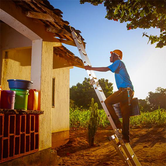 OGE installation - man on ladder