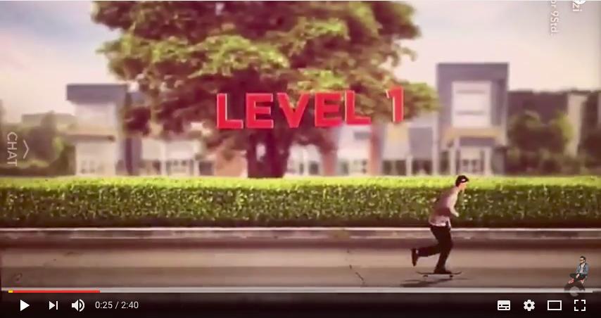 Extrait vidéo du jeu SnapSkate de Coca-Cola