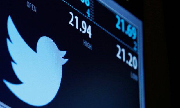 Logo de Twitter sur un écran