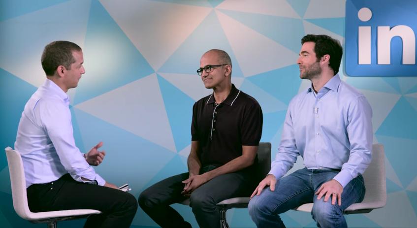 Les CEO de Microsoft et LinkedIn discutent du rachat