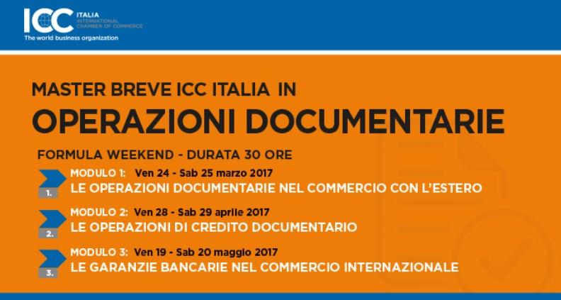 corso ICC Italia master in operazioni documentarie