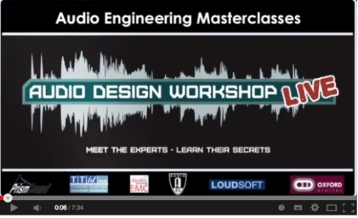 Watch Audio Design Workshop - LIVE preview YouTube video