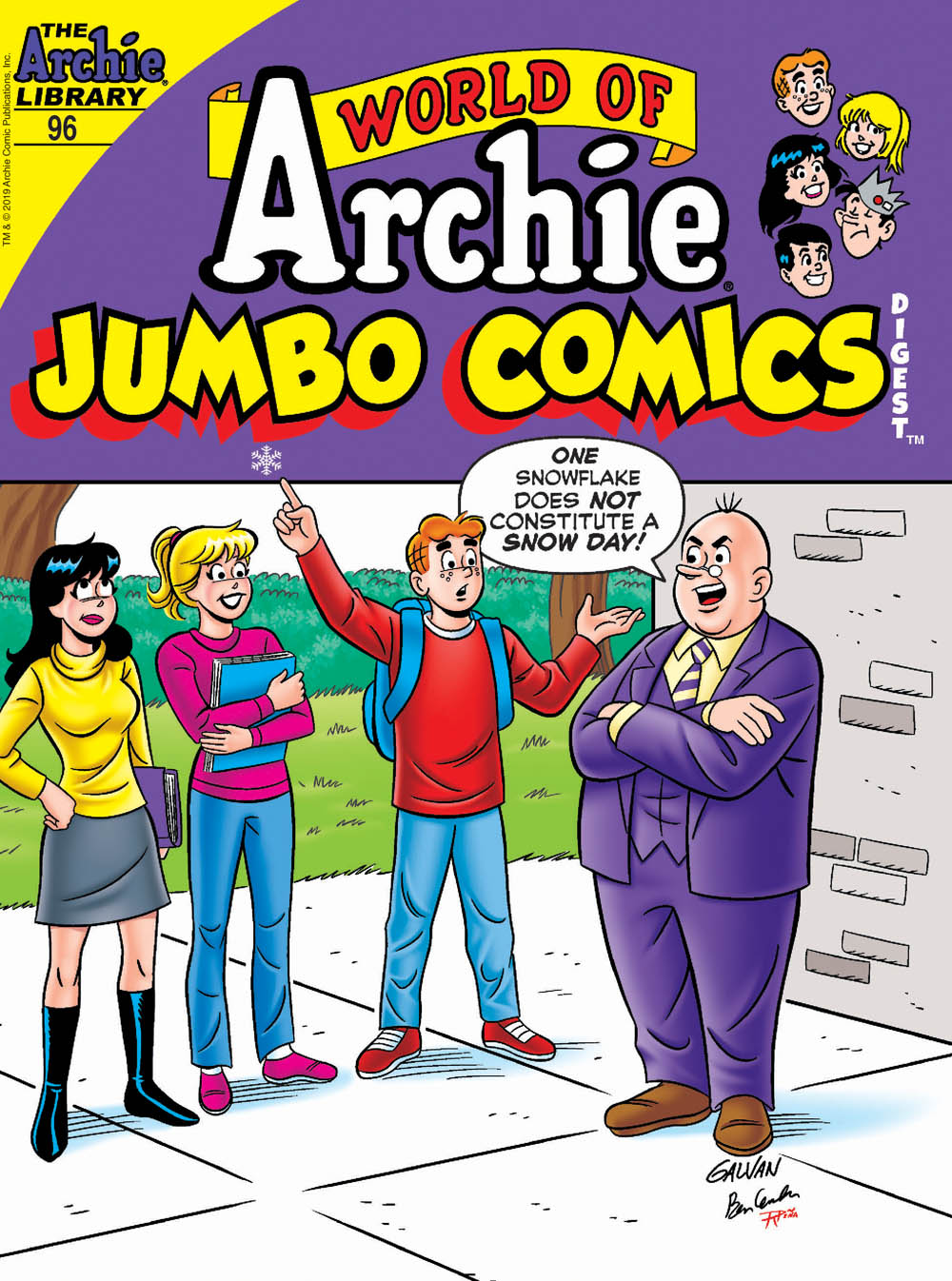 WORLD OF ARCHIE JUMBO COMICS DIGEST #96: Cover A Galvan