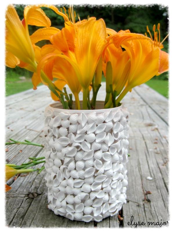 seashell pasta vase