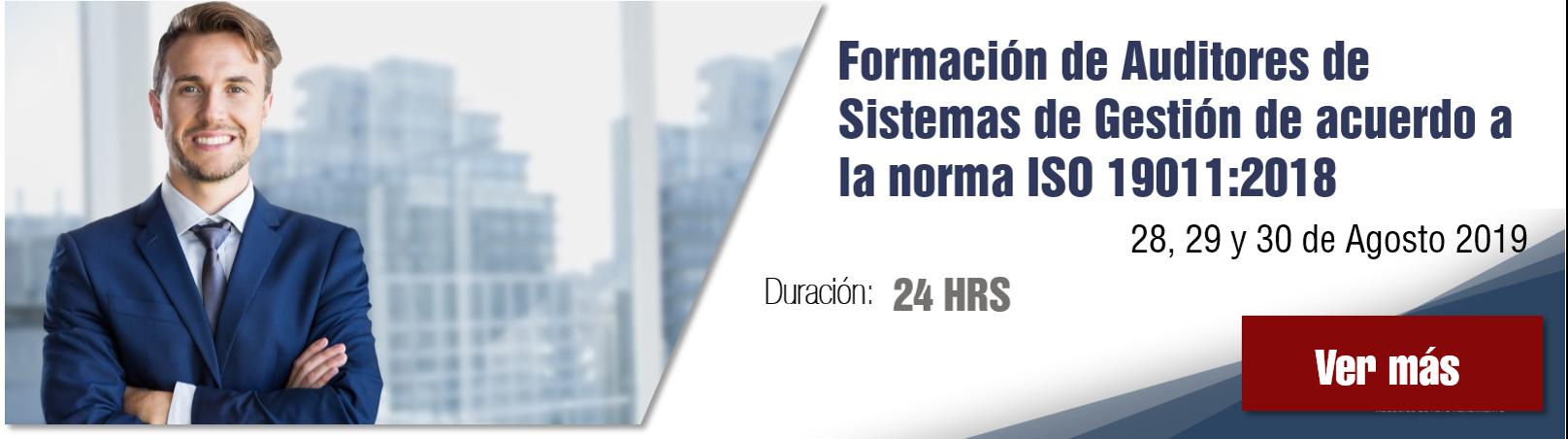 Curso Formación de auditores de sistemas de gestión de acuerdo a la norma ISO 19011