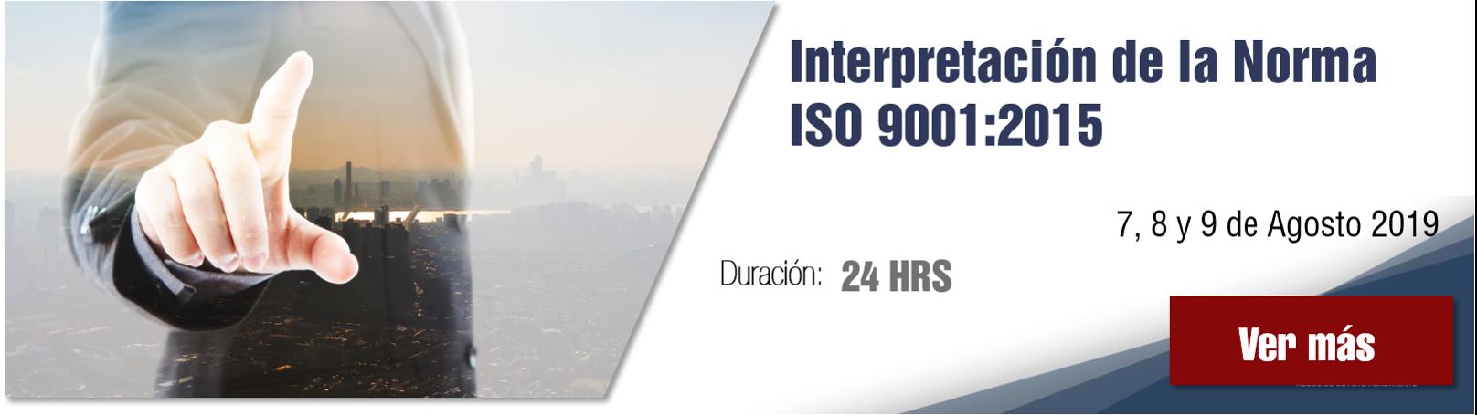 Curso interpretación de la norma ISO 9001