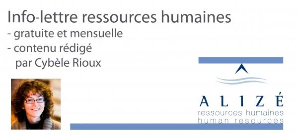 Info-lettre de Alizé ressources humaines