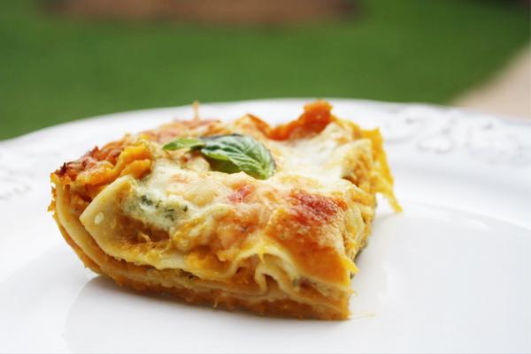 Roasted Butternut Squash, Garlic & Sage Lasagna