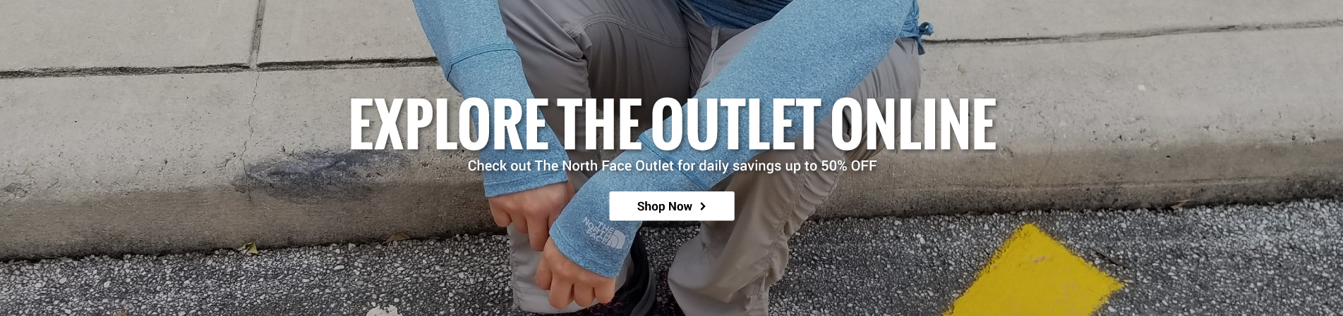 Save up to 50% off The North Face when you shop the Outlet