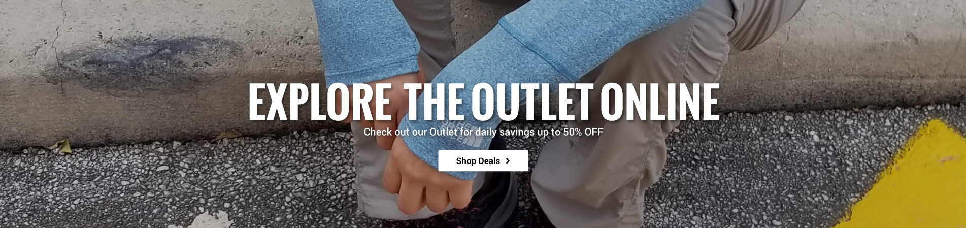 Save up to 50% off when you shop the Outlet online