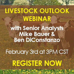 Register Now - Livestock Outlook Webinar on Wednesday, February 3rd at 3PM CST