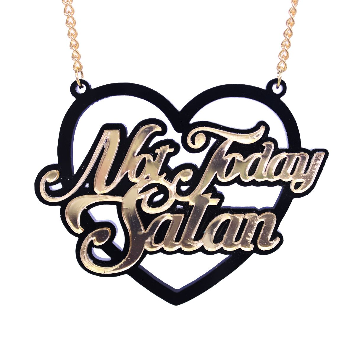 Not Today Satan Necklace - Extreme Largeness Wholesale