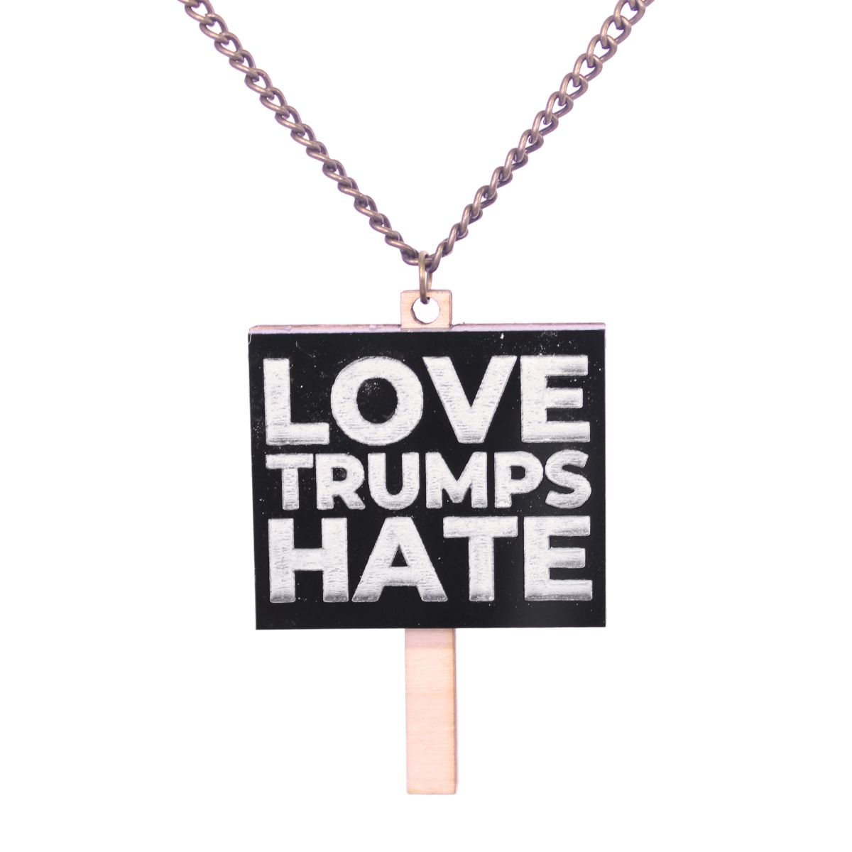 Love Trumps Hate Necklace - Extreme Largeness Wholesale