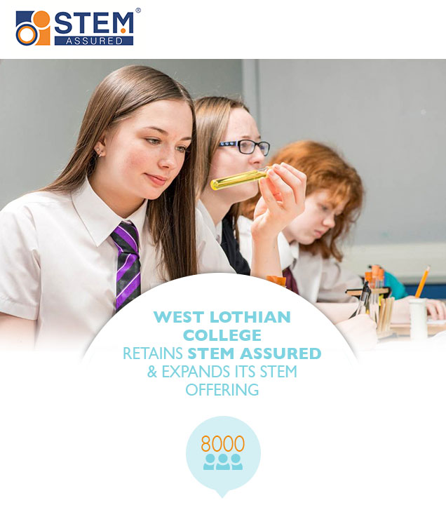 West Lothian College retains STEM Assured & expands its STEM offering