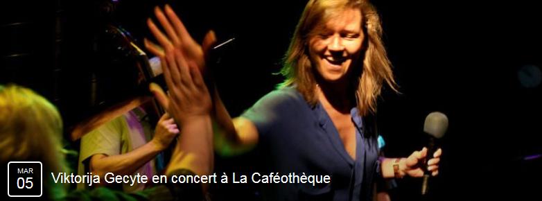 Concert à La Caféothèque - 5 mars 2015 à 20h30