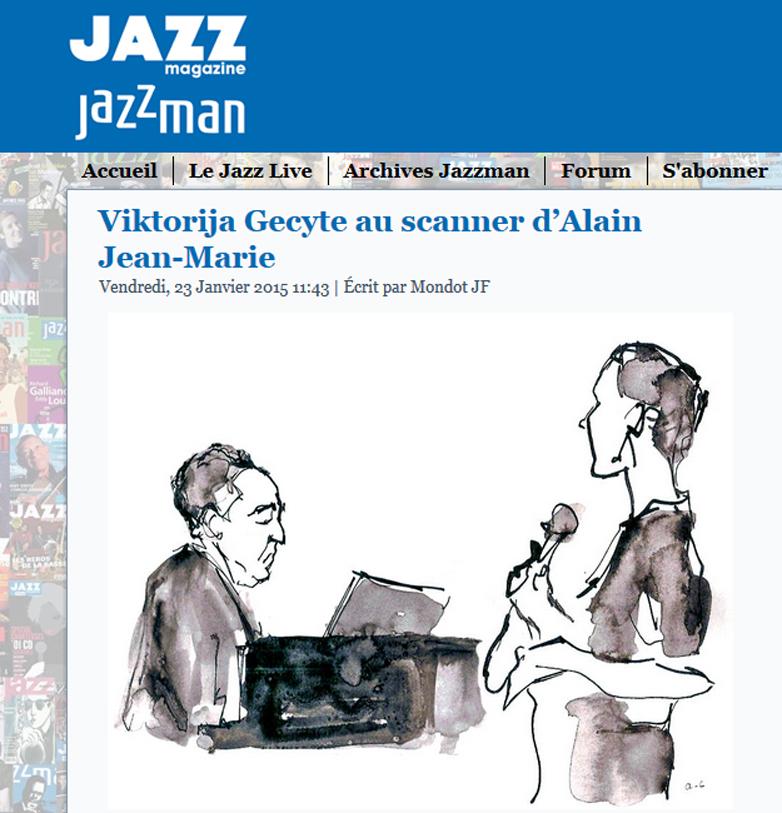 Conversations avec Alain Jean-Marie - Article dans Jazz Magazine