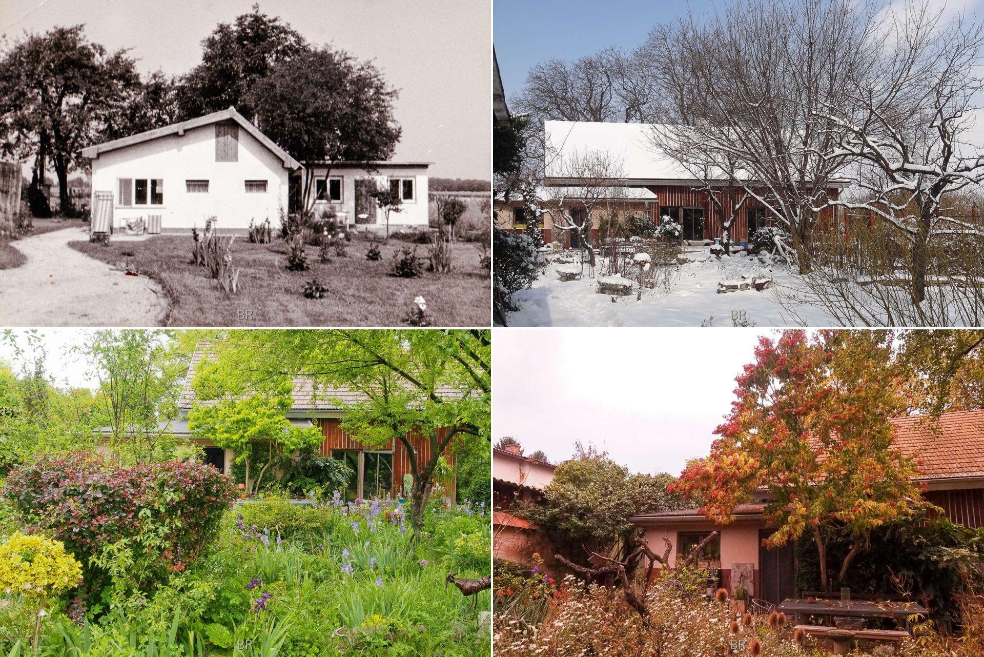4 Ansichten - das alte Haus und das neue