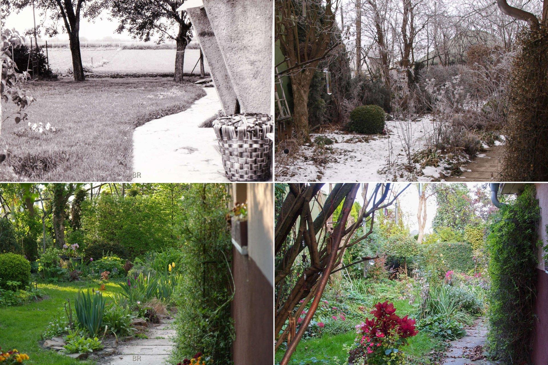 4 Ansichten neben Haus
