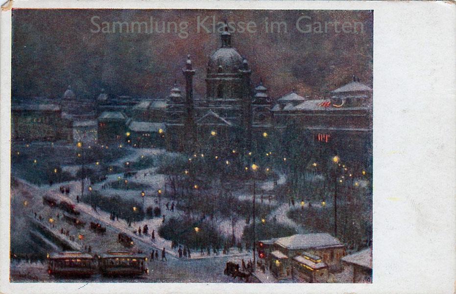 Karlsplatz bei Nacht, vor 1937
